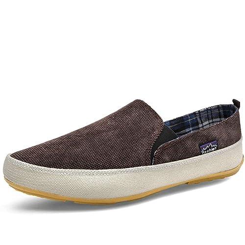 Hombres Zapatillas Verano Mocasines Transpirable Lona Zapatos Slip-on Calzado Casual Moda luz Caminar Zapatos: Amazon.es: Zapatos y complementos