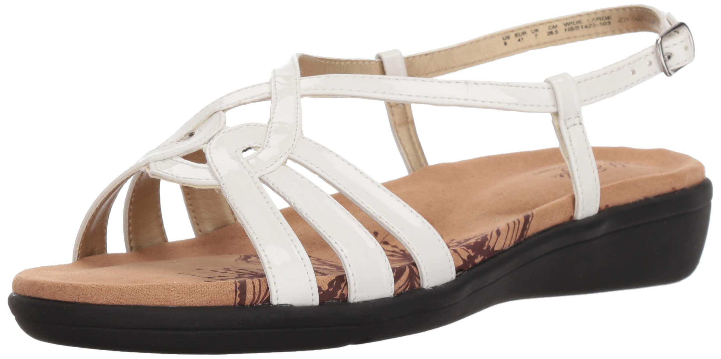 Soft Style by Hush Puppies Women's Patrese Sandal, White Patent, 07.0 M US by Soft Style