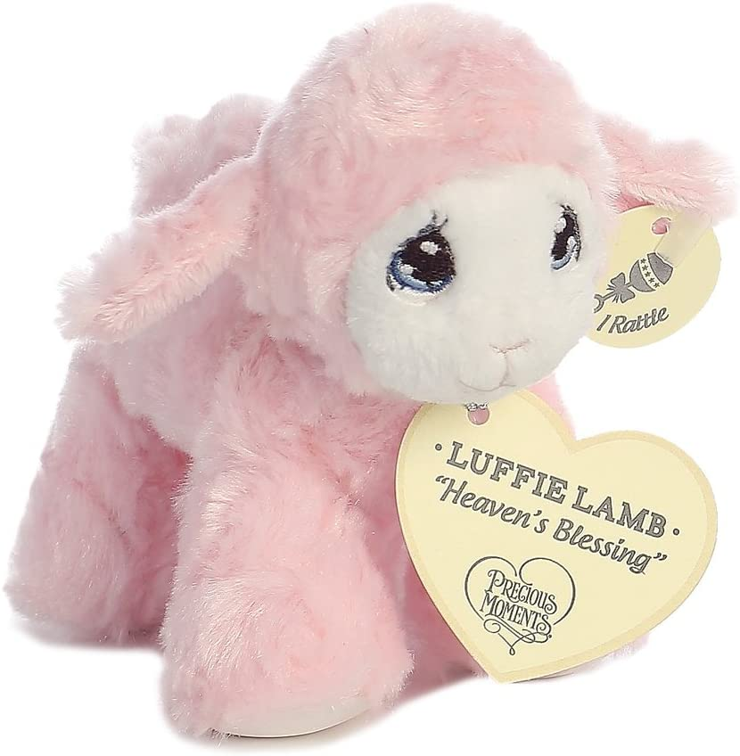 Precious Moments Luffie Lamb Heaven s Blessings Baby Rattle – Pink