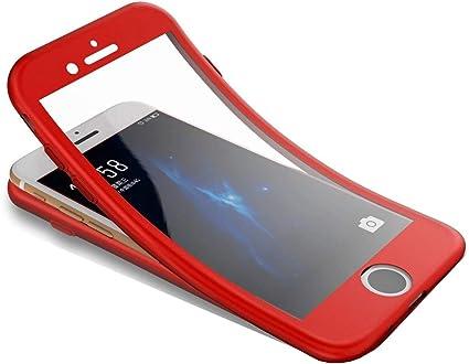 Coque iPhone SE/iPhone 5S,Surakey [avec Verre Trempé] 360 Degrés Integrale Silicone Gel Housse Etui Full body avant et arrière Protection Hybride ...