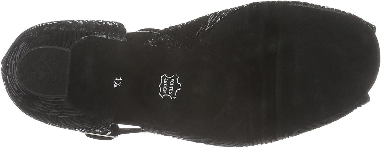 Diamant Damen Tanzschuhe 001-012-242, Zapatos de Tacón para Mujer Negro Oild Antique 53 UbZHO