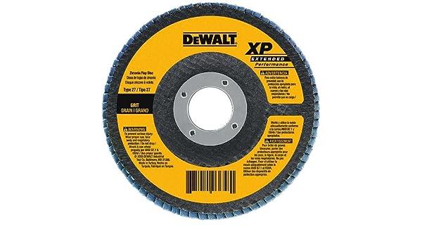 DEWALT DW8356 4-1//2-Inch by 5//8-Inch-11 40g Type 27 HP Flap Disc
