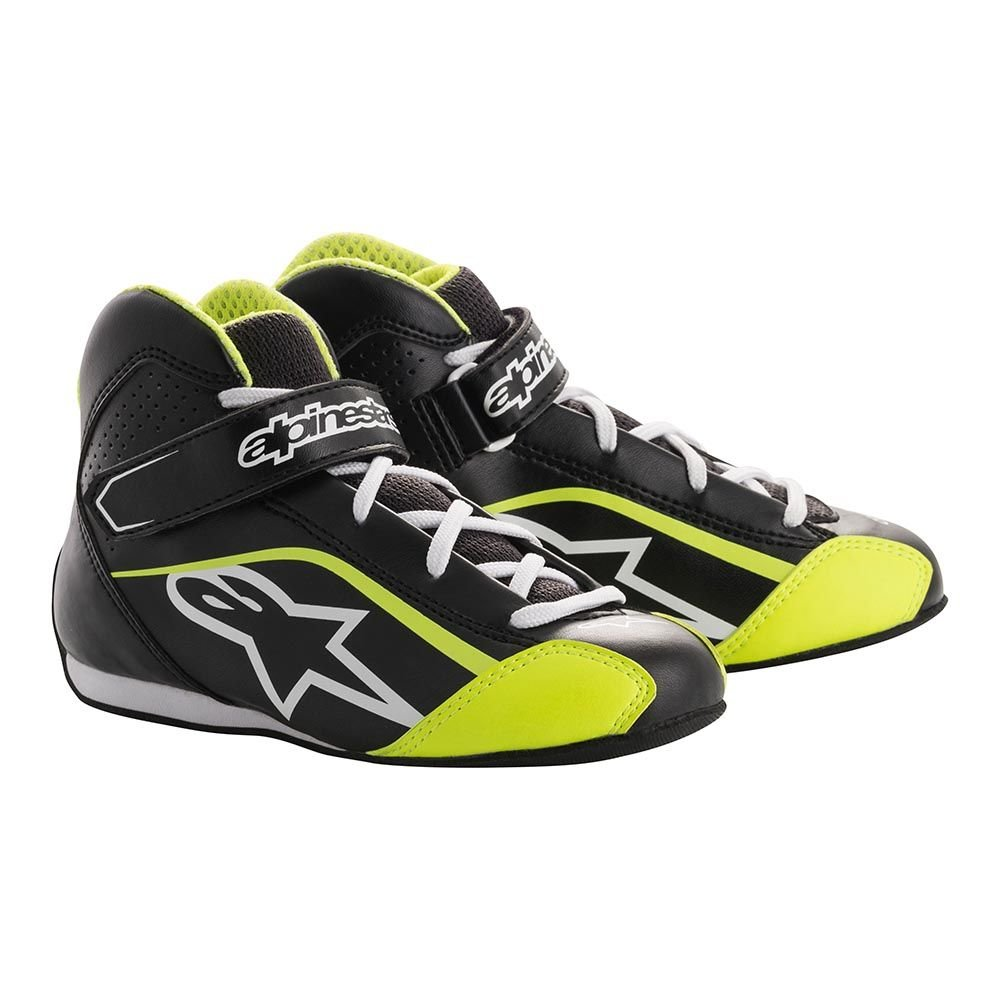 Alpinestars 2712518-125-1 Tech 1 Size 1 K S Youth Shoes Black//White//Yellow Fluorescent