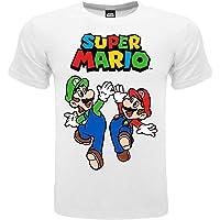 Fashion UK Camiseta oficial de Mario y Luigi. 100% algodón. Color blanco con logotipo. Producto bajo licencia. Tallas de…