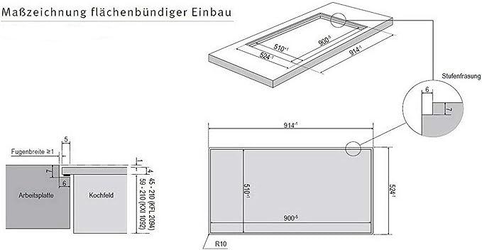 Oranier KXI 1092 Basic Plus - Cocina de inducción con placa de inducción (90 cm, sistema de ventilación integrado y listones laterales de acero inoxidable): Amazon.es: Grandes electrodomésticos