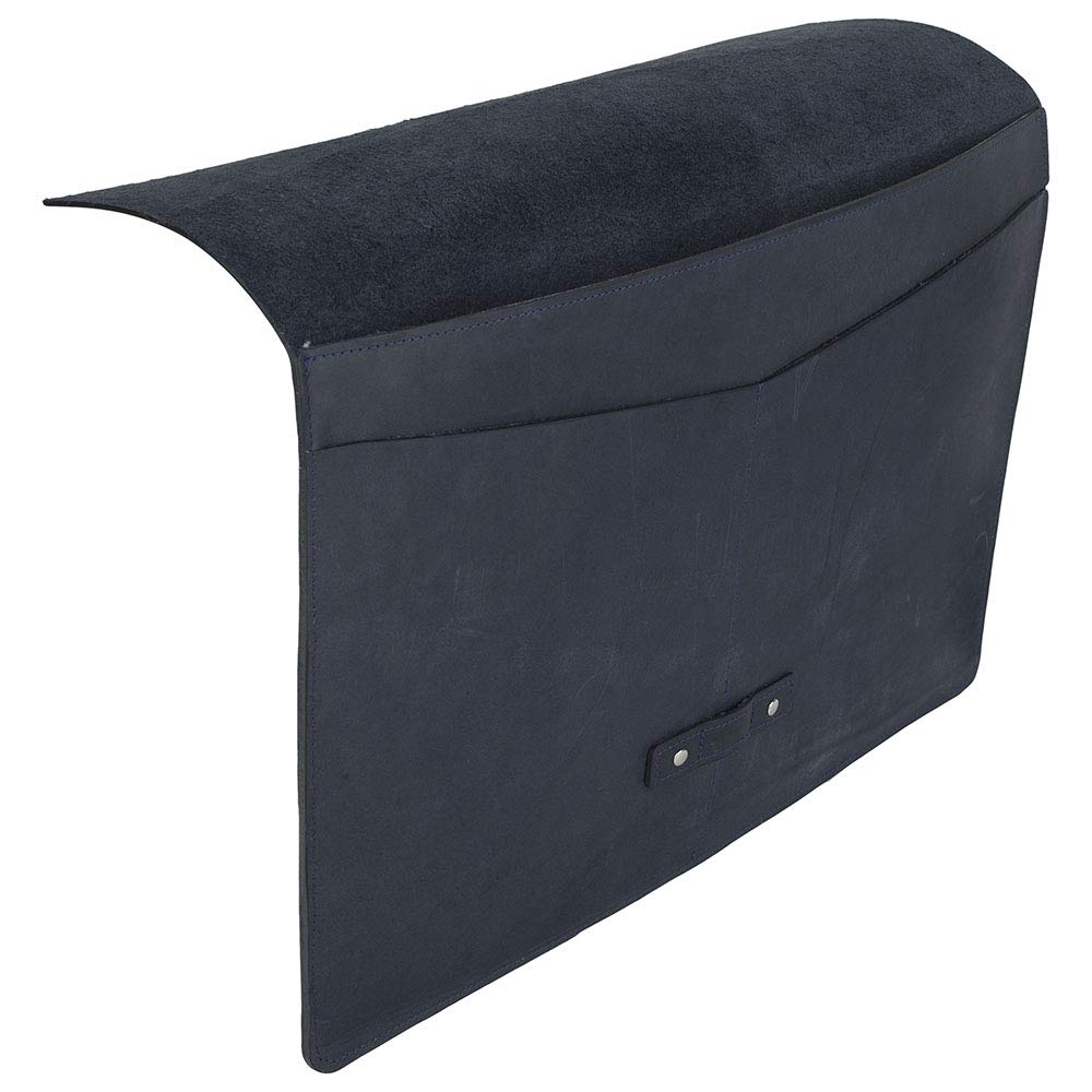 """SLATE COLLECTION Belltown Laptop Sleeve, Full-Grain Leather (Indigo, fits 15"""" Laptop) by SLATE COLLECTION (Image #3)"""