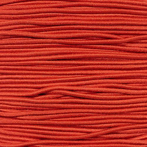 "PARACORD PLANET Elastic Bungee Nylon Shock Cord 2.5mm 1/32'', 1/16'', 3/16'', 5/16'', 1/8"", 3/8'', 5/8'', 1/4'', 1/2 inch Crafting Stretch String 10 25 50 & 100 Foot Lengths Made in USA by PARACORD PLANET"
