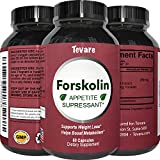Forskolin Extract – Natural Weight Loss Diet Pills – Fat Burner + Appetite Suppressant That Works – 250 mg Capsules – Get Thin + Lose Fast with the Best Pure Coleus Forskohlii Root – Tevare