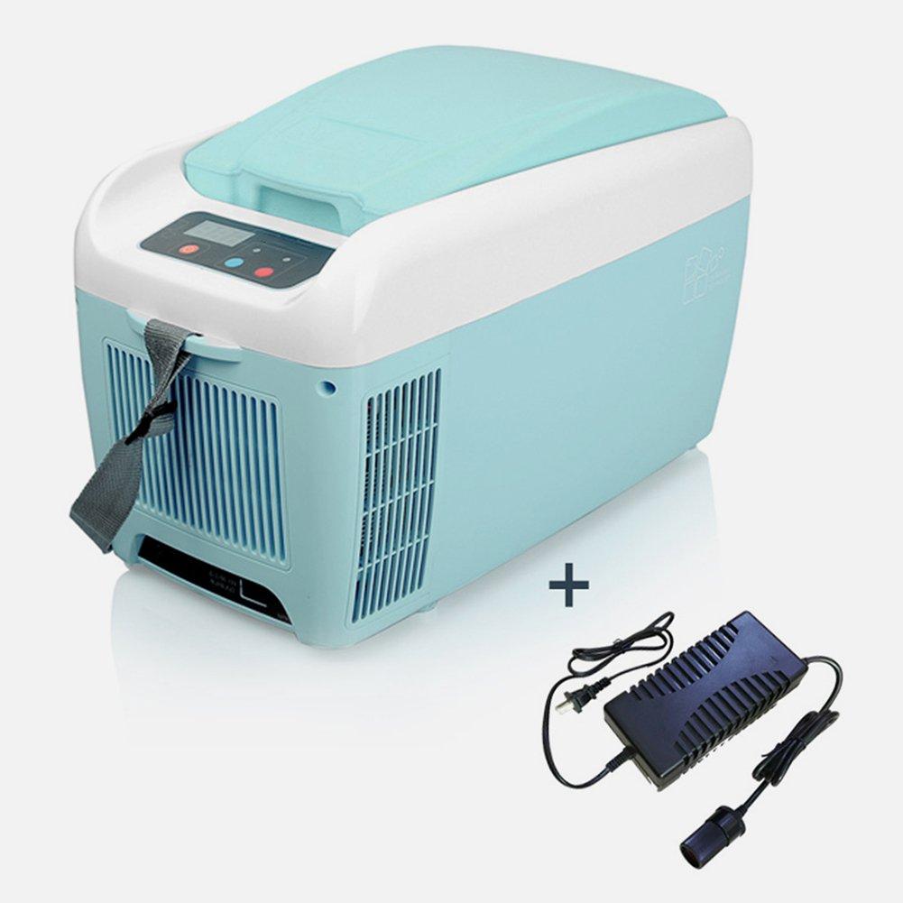 LIQICAI 8L Minikühlschrank Auto Kühlschrank Bierkastenkühler Camping 12V 110240V (Farbe : for Car+Home)