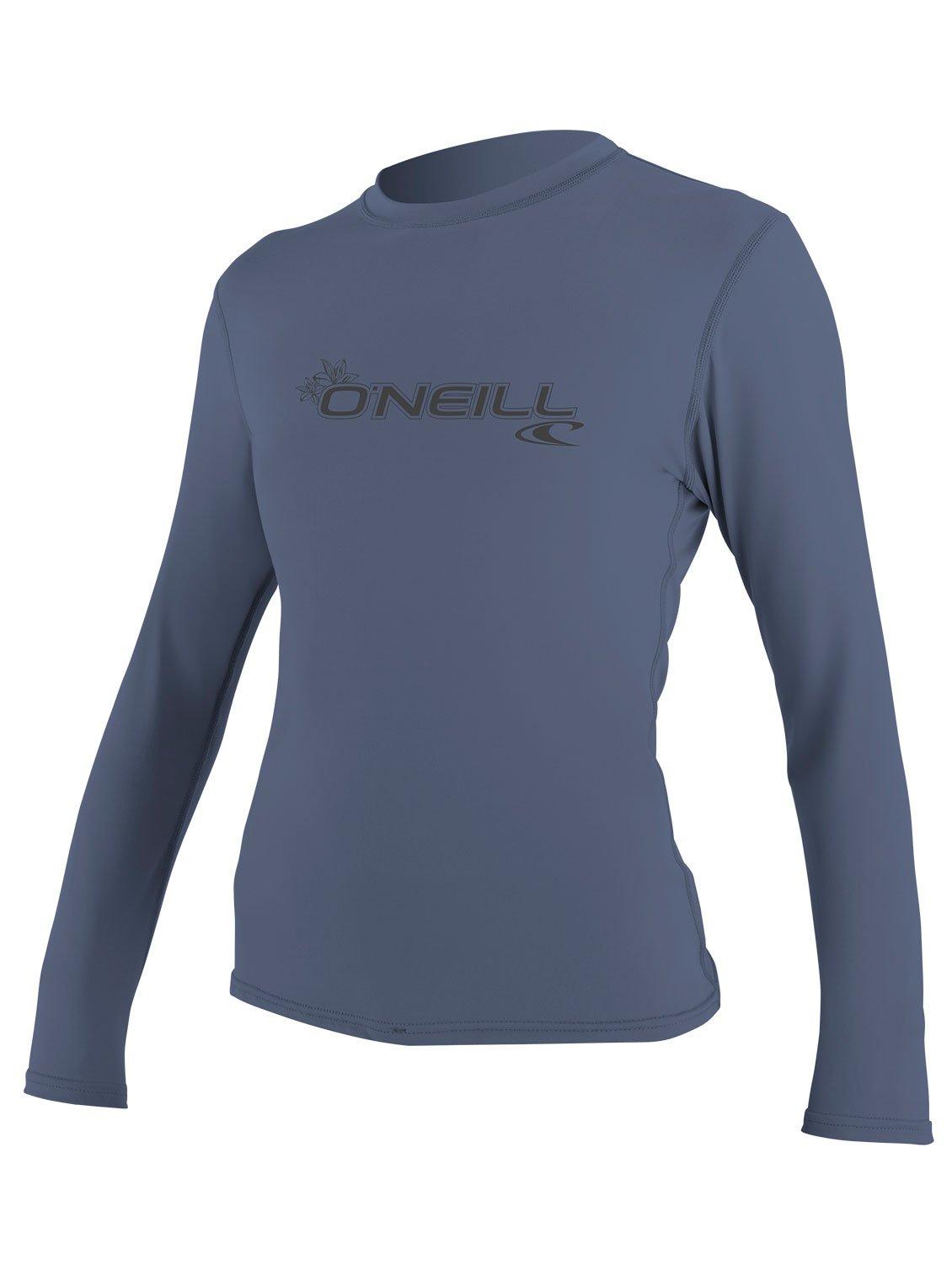 O'Neill Women's Basic Skins Upf 50+ Long Sleeve Sun Shirt, Mist, X-Large by O'Neill Wetsuits