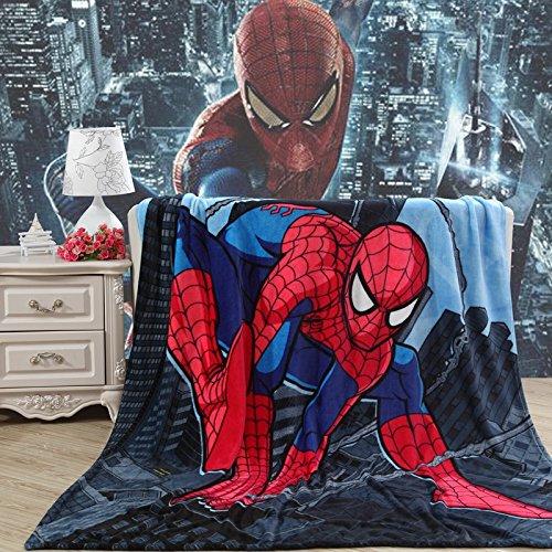 Blaze Children's Cartoon Printing Blanket Coral Fleece Blanket 59 By 79 (Spider-Man)