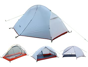 Luxe Tempo Ultralight 1 Person Tent Backpacking with Footprint Sil Nylon Solo Hiking Bike Motorcycle C&ing  sc 1 st  Amazon.com : one person tents backpacking - memphite.com