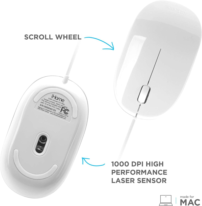 White iHome Bluetooth Mac Mouse IMAC-M110W Keyboards, Mice & Input ...