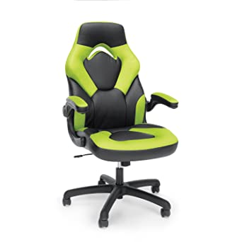 Essentials Racing Style Leather Gaming Chair   Ergonomic Swivel Computer,  Office Or Gaming Chair,