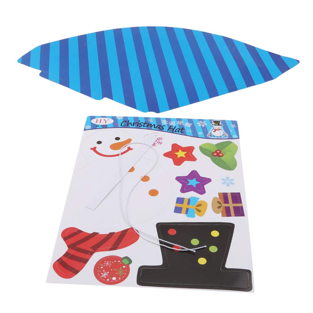 ed46c5a8f48 Amazon.com  LALANG Party DIY Cone Hats Snowman Pattern Christmas Hats for Christmas  Decor  Kitchen   Dining