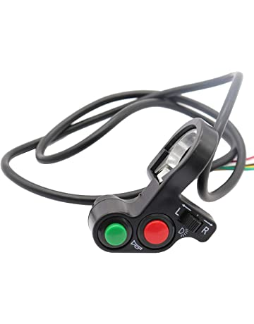 Vosarea Botón de Luces Delanteras del Interruptor de luz de señal de Giro de la Motocicleta