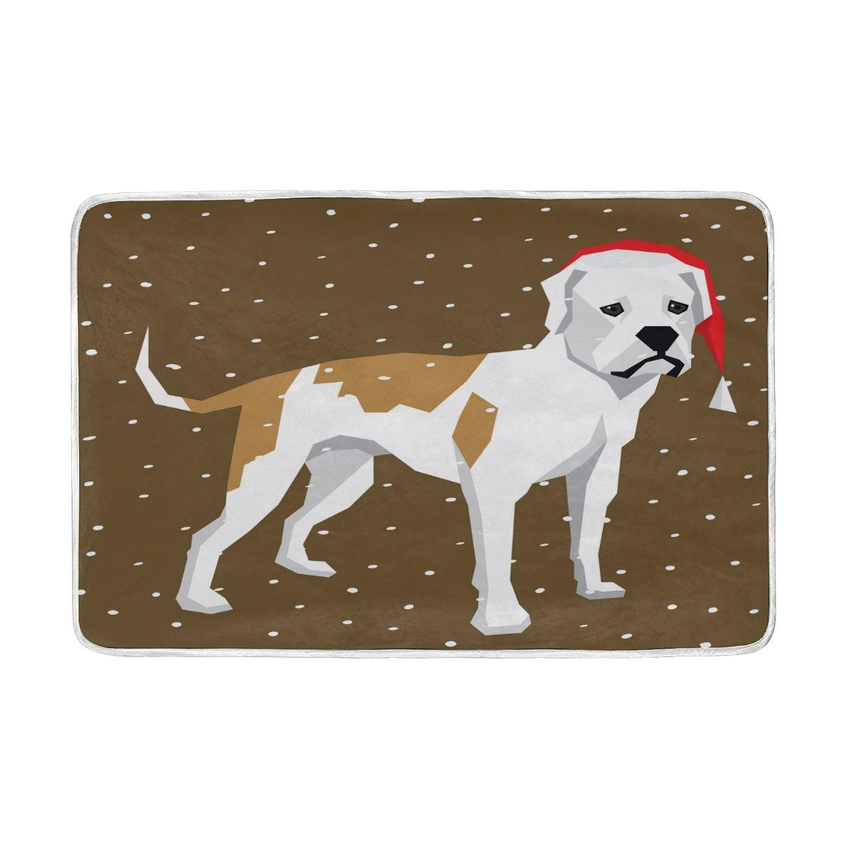 Alaza犬American Bulldog Snowflakes Animal Blanket Luxury Throw PersonalizedスタイリッシュFuzzyソフト暖かい軽量毛布ベッド用Counch All Seasonユニセックス大人用メンズレディース男の子女の子60 x 90インチ B077MBZJPH