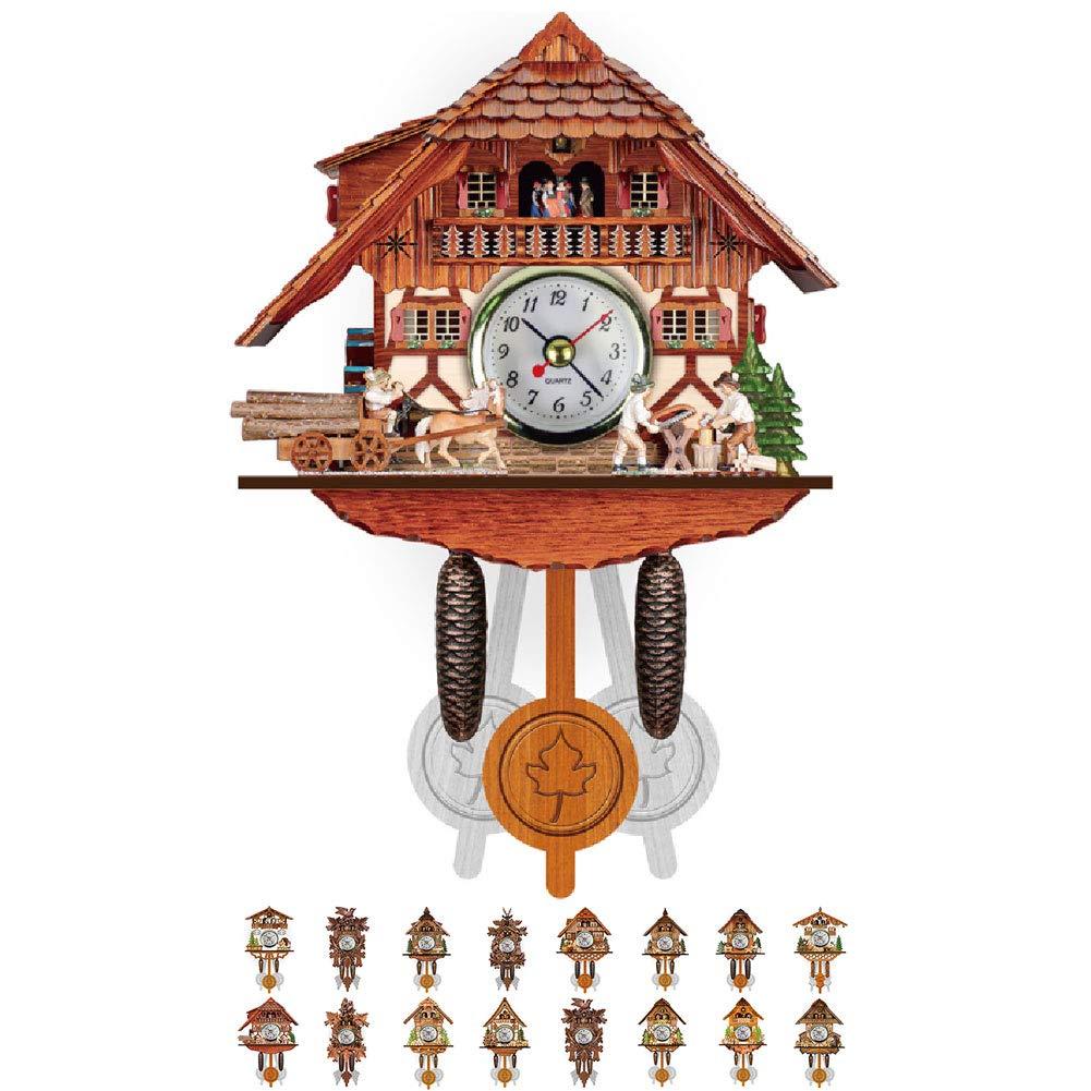 NANANA Vivid Large Cuckoo Clock Wall Cuckoo Clock, Cuckoo Clock Movement Chalet-Style, Authentic Black Forest Cuckoo Clock, 115×225×50Mm,#11 by NANANA