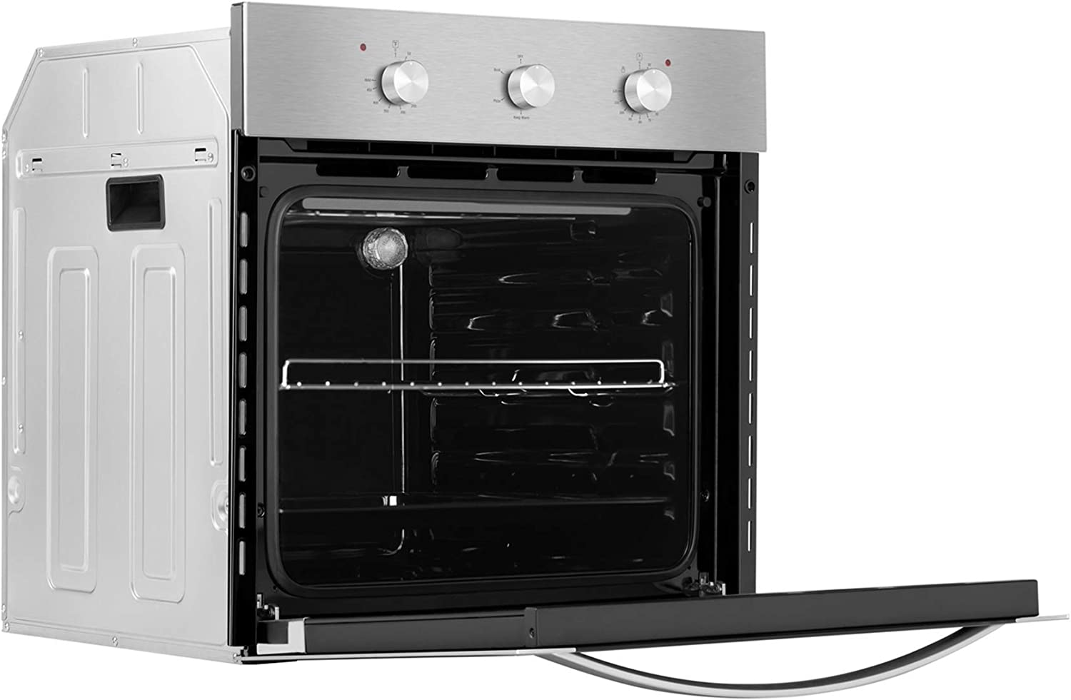 """Empava 24\"""" Electric Single Wall Oven with Basic Broil/Bake Functions Mechanical Knobs Control in Stainless Steel, A01, Silver 71l-0WPOBrLSL1500_"""