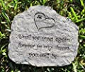 Dog Pet Memory Stone Heart Paw Print Until We Meet Again Forever In My Heart You Will Be Bereavement Memorial Gift by Dog Speak