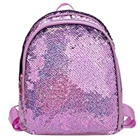HomeMals Campus Backpack Silver Gold Full Sequined Zipper School Bag Leisure Travel Bag Student Bag