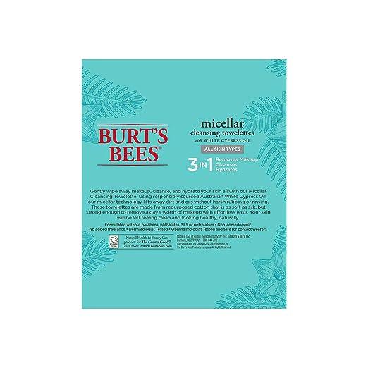 Burt s Bees micelar desmaquillante towelettes, 30 unidades ...