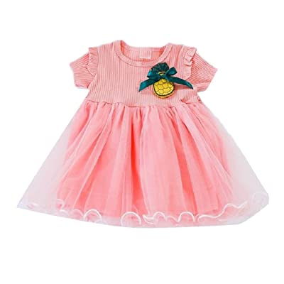 Abetteric Baby Grils Elegant Holiday Trendy Fitted Fancy Trapeze Dress