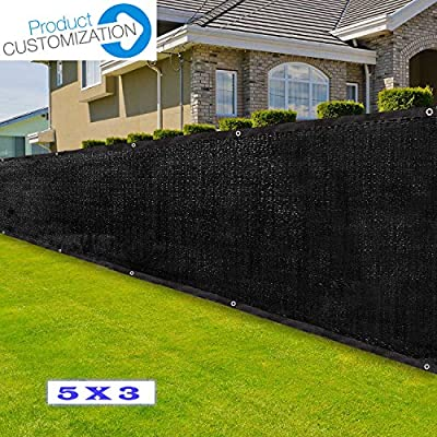 Eden's Decor Customizable 5-ft Wide Commercial Grade Fence Screen Privacy Screen 140 GSM