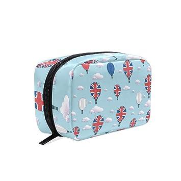9c1bd4991a1f British Flag Hot Air Balloon Travel Toiletry Bag Small ... - Amazon.com