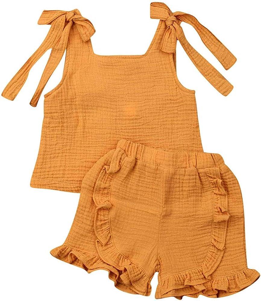 2 Piezas niño bebé niña algodón Lino sin Mangas Arco Chaleco ...