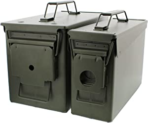 Redneck Convent 30 and 50 Cal Metal Ammo Can 2-Pack – Military Army Solid Steel Holder Box Set for Long-Term Shotgun Rifle Ammo Storage