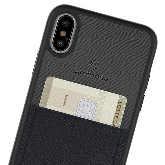 hot sales 9eeac 39b66 iPhone X/XS Case Card Holder, Sinjimoru iPhone X/XS Card Case iPhone X/XS  Wallet Case Card Wallet. Sinji Pouch Case iPhone X/XS, Black.
