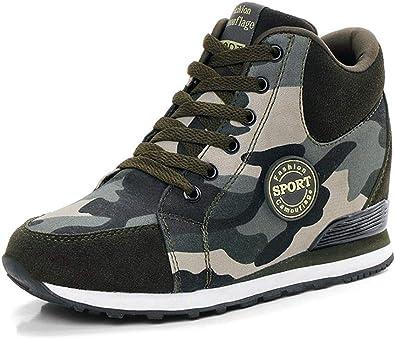 camo wedge sneakers