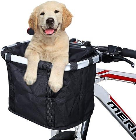 Jxunter Cesta para bicicleta, plegable, para mascotas, gatos ...