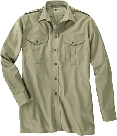 SKOGEN Camisa de Caza caña Verde con Manga Larga Oversize