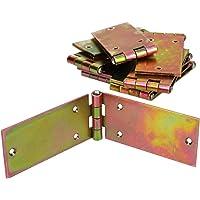 KOTARBAU Kistenband 200 x 50 mm 10 st. scharnier gerolde tafelband meubelscharnier verzinkt geel deurscharnier 2…