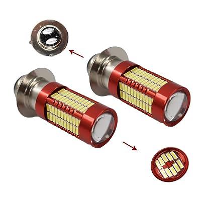 LABLT 2Pcs H6M 70023 102LED 6000K White Headlight Bulb for Yamaha YFZ450R Rhino 700 Raptor YFM660 TRX: Automotive