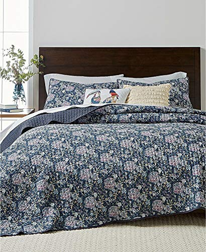 (Martha Stewart- Iridescent Peony King Reversible Stone Wash Quilt)