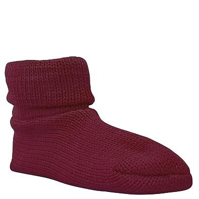 Soft Ones Muk Luks Cuff Sock Women's Slipper Cherry