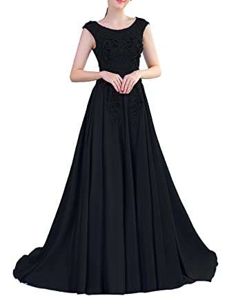 Lily Wedding Womens Beaded Lace Appliques Prom Dresses 2018 Long Satin Aline Evening Formal Ball Gowns