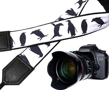 Correa de cámara de pingüino. Blanco y Negro. Para Correa de ...