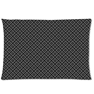 BLACK FLORAL Rectangle Pillowcase 20x30 (one side) Pillow Cover