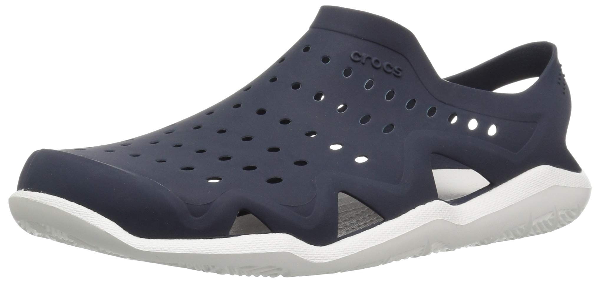 Crocs Men's Swiftwater Wave Sandal Sport, Navy/White, 4 M US by Crocs