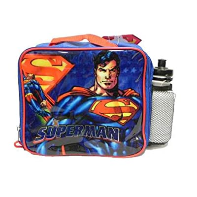 Superman Returns Lunchbox Lunch Bag Sports Water Bottle: Kitchen & Dining