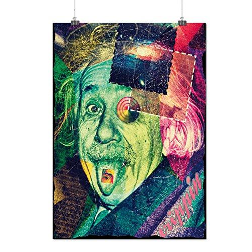 Einstein Philosophy Invention Matte/Glossy Poster A3 (12x17 inches) | Wellcoda (Einstein Costume Wig)