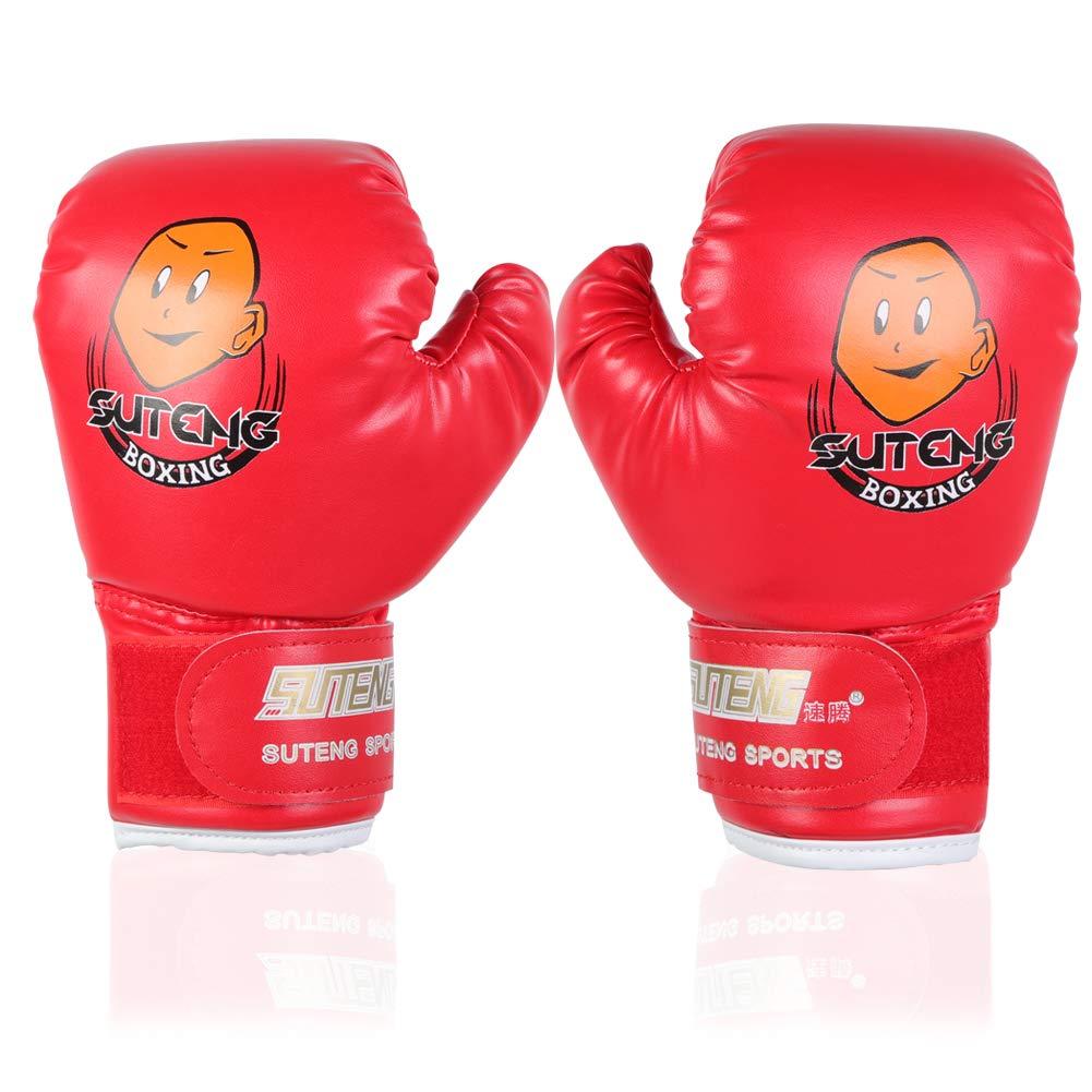 Guantes de Boxeo para Niños Punzonado de Sparring Guantes de Entrenamiento para Niños de 3 a 12 Años de Edad ( Color : Azul ) VGEBY
