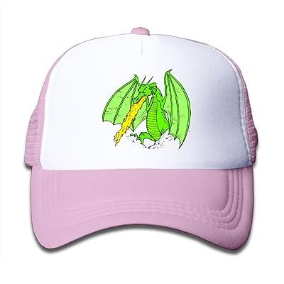 bb72631c Kid's Fire-Breathing Dragon Adjustable Casual Cool Baseball Cap Mesh Hat  Trucker Caps