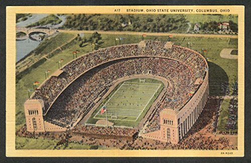Stadium Ohio State University Columbus OH postcard 1953 from The Jumping Frog