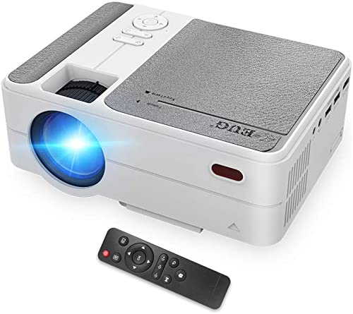 EUG LCD Portable WiFi Projector Airplay for Smartphone iPhone 2020 Upgrade 3800lumen 720P HD Home Theater Movie Projectors HDMI USB Audio VGA Compatible with TV Stick PS4 DVD,50,000hrs LED Projector