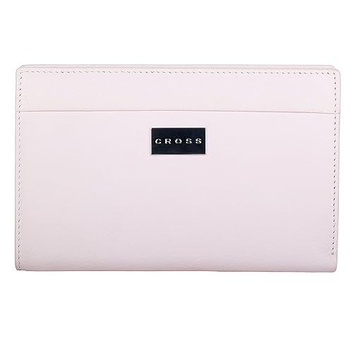 CrossWomen's 100% Genuine Leather Travel Wallet-Rose Pink